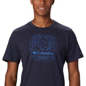 Columbia Bluff Mesa Graphic Maglietta Uomo, collegiate navy csc wireframe